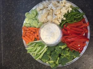 Vegetables & Dip tray